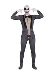 Wholesale Skeleton Unisex Lycra Spandex Cool Multicolor Zentai Suits catsuit r66 u5 r8A