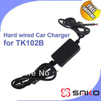Black 70 g Plastic DHL Freeshipping Wholesale 50pcs lot GPS Tracker TK102B Car Charger Cable Hard Wired Battery Charger for GPS Tracker TK102 DC 5V