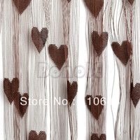 Wholesale 300 cm Dark Coffee Polyester Fiber Line Curtain String Curtain Door Window Curtain String Panel Room Divider