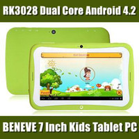 Wholesale NEW Kids Educational Tablet PC Inch HD Screen Android RK3028 Dual Core Ghz GB RAM GB Bluetooth WIFI Dual Camera MID Colors