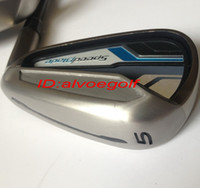 Wholesale 2014 new golf irons SpeedBlade irons Pw Aw Sw with stiff graphite shafts high quality golf clubs irons