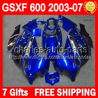 7gifts Blue black For SUZUKI KATANA GSXF600 03- 07 GSXF 600 G...
