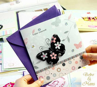 Wholesale New fashion designs series postcard set envelope greeting card