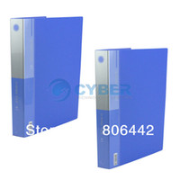 Wholesale 2PCS Blue Holes D Ring Presentation Folder Sets Documents Files Storage