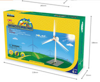 Wholesale If the state of technology exports in English educational wooden toys assembled solar wind generator