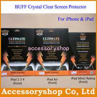 Classic Crystal Clear Screen Protector free shipping iPad Air 5 2 3 4 iPad Mini Retina BUFF Ultimate Explosion-proof Shock Absorption Classic Crystal Clear Screen Protector Guard For iPad 2 3 4 iPad Air 5 Mini Retina 200pcs DHL