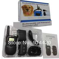 Wholesale For dog H i98 Dog Bark Shock Training Collar LCD Remote Vibra Pet Trainer Waterproof Upgraded from DR