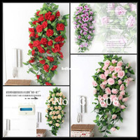 Wholesale 2pcs cm Artificial Silk rose color Wedding Vine Plant rose FL040
