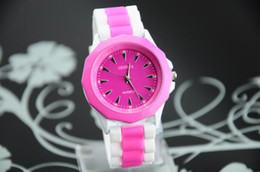 Analog Casual Watches Silicone Band Unisex Quartz watches Geneva Jelly Watch New 2014