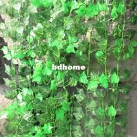 artificial plants - 4 Color Leaves Artificial Ivy Floral Decor Vine Artificial Flower Plant Foliage Drop shipping