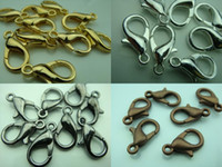 Wholesale 1000pcs mm lobster hook clasp silver plating diy jewelry Factory silver gilt Tibet Silver Charms Free ship Hi Q New style
