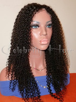 Curly kinky curl lace wig - 130 density Kinky Curl Glueless full lace Wigs virgin brazilian human hair lace wig Natural Hairline baby hair for women