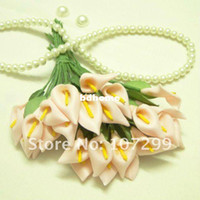 Wholesale New Arrival Peach Beatuiful Handmade Mini Calla Lily Flower for wedding invitation card Scrapbooking DIY Craft