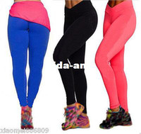 Wholesale HOT Women High Waist Tights Leggings Fitness YOGA Sport Tights Running Pants