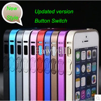 Wholesale Metal Bumper Case Ultrathin mm Frame Cover With Button For iPhone S Retail Package
