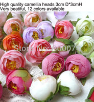 Wholesale DIY Craft Supplies Artificial Silk Camellia Flower Heads wedding favours events or christmas party supplies
