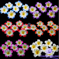 Wholesale 200pcs Table Decorations Plumeria Hawaiian Foam Frangipani Flower For Wedding Party Decoration Romance