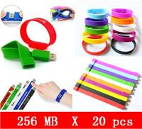 usb wristband - 20pcs X mb Silicone Wristbands USB Flash Pen Drive USB HOT sales flash drive high quality OEM service free promotion gift