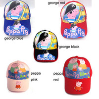 Mixed 3colors 3D baseball cap pirncess peppa pig george patt...