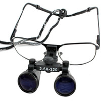 UO25   New Black 2.5 x 320mm Dental Surgical Binocular Loupes