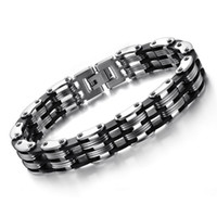 Wholesale Mens Bracelet Fashion Cool Titanium Steel Bracelet Personality Party Bracelet
