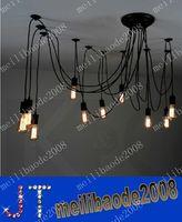 бесплатная доставка 10-Heads чердак Творческий ретро ресторан-бар-кафе Tiannvsanhua люстра лампа гостиная с пауками MYY8947