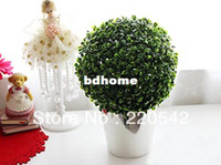 Wholesale 2014 Artificial Plant Topiary Ball Tree Plant Home Outdoor Wedding Event Decoration cm SHC