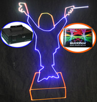 a todo color 40Kpps Galvo escáner 4000 MW 4W RGB Animación DMX512 ILDA DJ de la modulación analógica Disco Club Bar etapa de luz láser + QuickShow