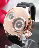 Wholesale Men s Sports Watch V6 Steel Case Analog Quartz Watches Dual time zone watch Large Dial Rubber Strap Military watches New