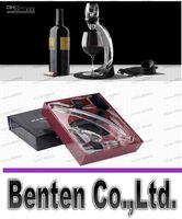 Wholesale LLFA4497 Hot Wine Aerator Tower Gift Box Set Red Wine Aerator Magic Decanter Brand Wine Aerating Decanter Bottle Glass