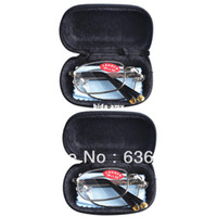 Wholesale 2 PRS Mens Womens Folding Travel Business Reading Glasses with Case in Strengths amp