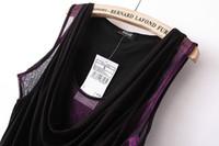 Wholesale 1471 summer new women s European and American style sexy low cut gauze stitching vest sleeveless shirt small shirt