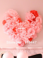 Wholesale 50pcs quot cm tissue flower paper pom poms wedding party home decors