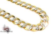 Wholesale 10k Yellow Gold inches mm Cuban Necklace Link Chain