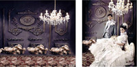 Wholesale 220cm cm ft Crystal chandeliers carved wall carpetingbackgrounds for photo studio