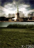 Wholesale 220cm cm ft River City Statue of Liberty backgrounds for photo studio