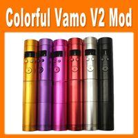 Electronic Cigarette Atomizer  Vamo V2 Mechanical Mod Colorful Vamo V2 Battery Body Variable Voltage Mod for Electronic Cigarette Via DHL