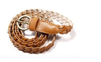 Wholesale 2014 Ladies Stylish All Matching brown Weave belts Clothing collocation necessary Accessories Belts FG003
