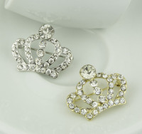 Wholesale Cheap Costume Jewelry Rhinstone Crown Brooch King Crystal Brooch Pins for Women LY1