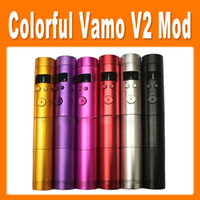 Electronic Cigarette Battery mod as pictures Colorful Vamo V2 Mechanical Mod V2 Battery Body Variable Voltage Mod for Electronic Cigarette (0207034)