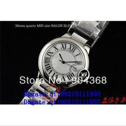 Luxury High Quality 36mm QUARTZ MID SIZE BALON BLEU DE Wristwatch Fashion Stainless Steel Automatic Mens Watch Men's Watches
