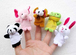Plush Animal Finger toy puppet means even educational toys animal means even tell a story toys Infant small animal 10 style per set