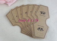 Tags, Price Tags,Card Halloween  Wholesale Paper Jewelry Display Packing Card,200pcs lot Heart Shape Brown Crown Custom Jewelry Earring Packaging Display Cards