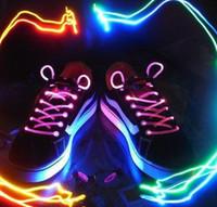 Wholesale LED flashing shoelace Light up shoelaces shoe laces Laser shoelaces Colorful fashion led shoelace pairs