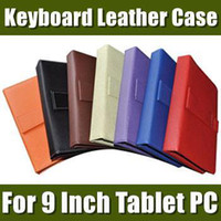 Wholesale New colours Keyboard leather Case For inch A23 inch Sainei N91 A13 T910 T900 Tablet PC JP