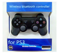 Wholesale Wireless Bluetooth game controller joystick for PS3 factory sealed do drop ship blue packaging