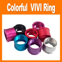 Wholesale Colorful aluminum Adapter Ring for eGo Atomizer Electronic Cigarette Connection Part for eGo E Cigarette