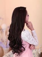Wholesale New Clip hair quot inches g Silky Wavy Remy Clip in blended Human Hair Extensions Dark Brown t33