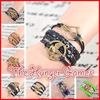 Charm Bracelets best fashion games - New Fashion Infinity The Hunger Games charm bracelet brown bracelet best friendship gift IB510