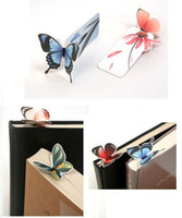 Wholesale Bookmarks cartoon butterfly Book marks Office amp School Paper clip LK4002
